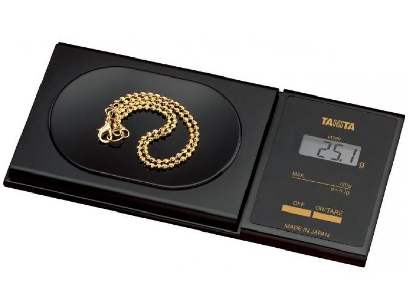 TANITA 1479V - Mini Báscula Profesional 120gr/0.1gr